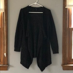 Super soft black Open front sweater